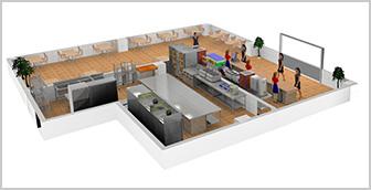 现在餐饮厨房布局设计的重要性